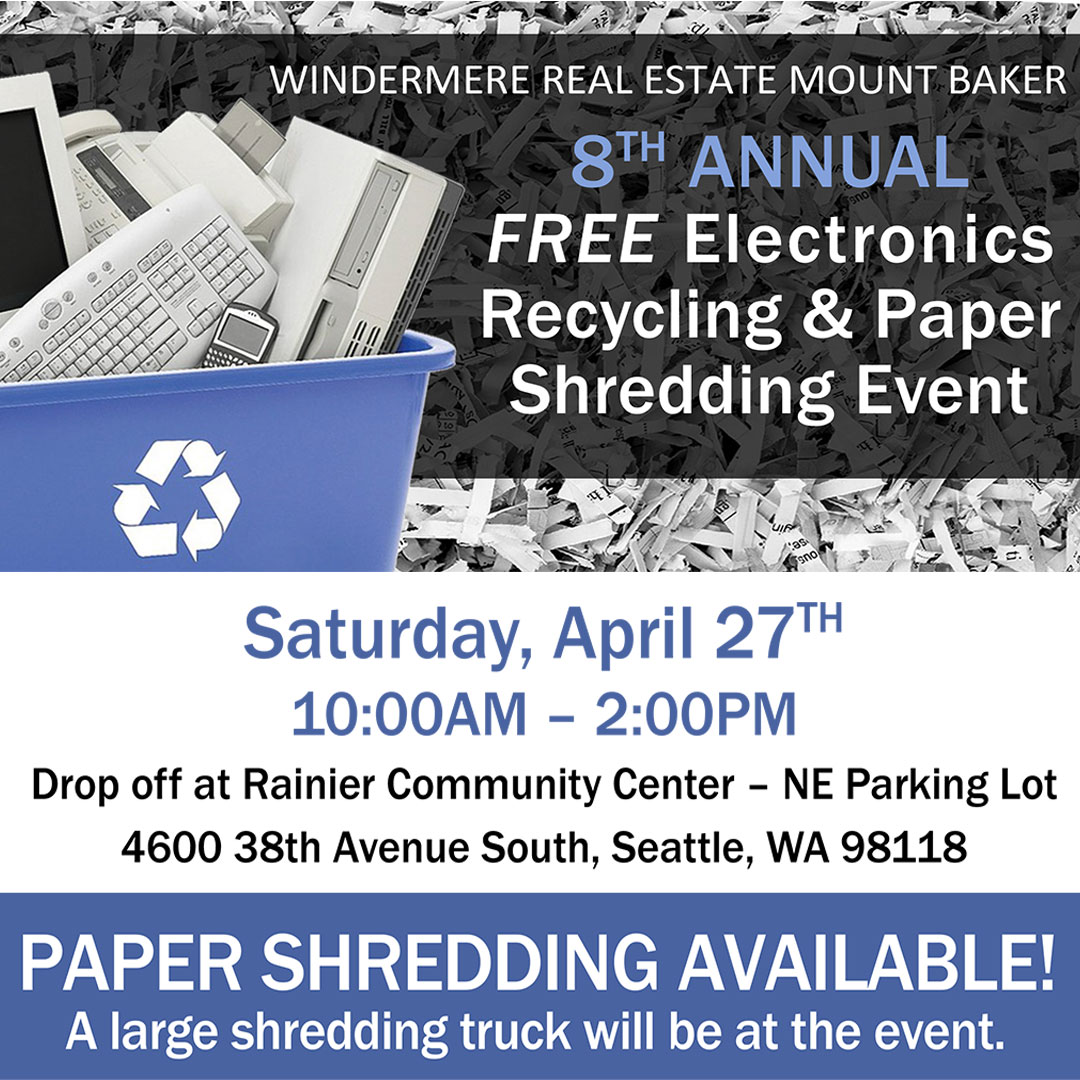 WMB Recycling and Shredding Event ~ Windermere Mt Baker